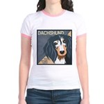 Dachshund-Kiss.Snuggle.Repeat. Jr. Ringer T-Shirt