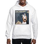 Dachshund-Kiss.Snuggle.Repeat. Hooded Sweatshirt
