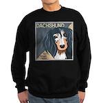 Dachshund-Kiss.Snuggle.Repeat. Sweatshirt (dark)