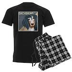 Dachshund-Kiss.Snuggle.Repeat. Men's Dark Pajamas