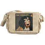 Dachshund-Kiss.Snuggle.Repeat. Messenger Bag
