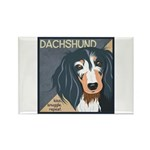 Dachshund-Kiss.Snuggle.Repeat. Rectangle Magnet (1