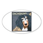 Dachshund-Kiss.Snuggle.Repeat. Sticker (Oval 10 pk