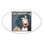 Dachshund-Kiss.Snuggle.Repeat. Sticker (Oval 50 pk