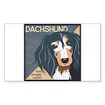 Dachshund-Kiss.Snuggle.Repeat. Sticker (Rectangle