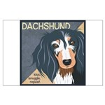 Dachshund-Kiss.Snuggle.Repeat. Large Poster