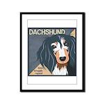 Dachshund-Kiss.Snuggle.Repeat. Framed Panel Print