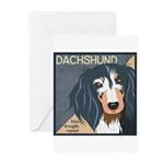 Dachshund-Kiss.Snuggle.Repeat. Greeting Cards (Pk