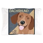 Dachshund-Kiss.Snuggle.Repeat. Pillow Case