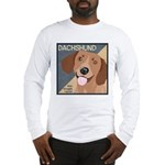 Dachshund-Kiss.Snuggle.Repeat. Long Sleeve T-Shirt