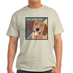 Dachshund-Kiss.Snuggle.Repeat. Light T-Shirt