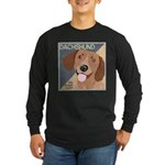 Dachshund-Kiss.Snuggle.Repeat. Long Sleeve Dark T-