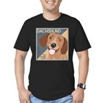 Dachshund-Kiss.Snuggle.Repeat. Men's Fitted T-Shir