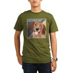 Dachshund-Kiss.Snuggle.Repeat. Organic Men's T-Shi