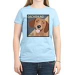Dachshund-Kiss.Snuggle.Repeat. Women's Light T-Shi