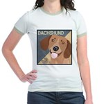 Dachshund-Kiss.Snuggle.Repeat. Jr. Ringer T-Shirt