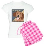 Dachshund-Kiss.Snuggle.Repeat. Women's Light Pajam