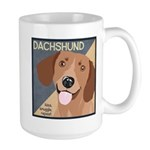Dachshund-Kiss.Snuggle.Repeat. Large Mug