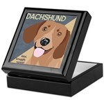 Dachshund-Kiss.Snuggle.Repeat. Keepsake Box
