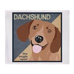 Dachshund-Kiss.Snuggle.Repeat. Throw Blanket