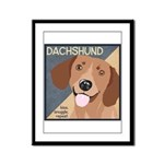 Dachshund-Kiss.Snuggle.Repeat. Framed Panel Print