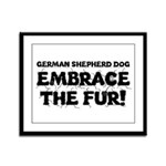 German Shepherd Framed Panel Print