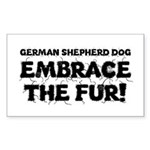 German Shepherd Sticker (Rectangle)