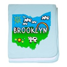 Brooklyn, Ohio. Kid Themed baby blanket