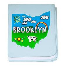 Brooklyn, Ohio. Kid Themed baby blanket