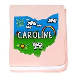 Caroline, Ohio. Kid Themed baby blanket