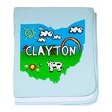 Clayton, Ohio. Kid Themed baby blanket
