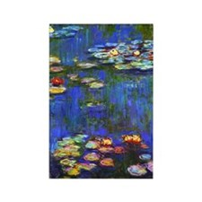 Monet - Water Lilies 1916 Rectangle Magnet