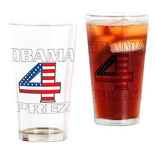 Obama 4 Prez Drinking Glass
