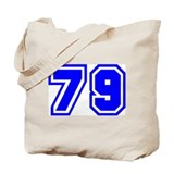 Varsity Uniform Number 79 (Blue) Tote Bag