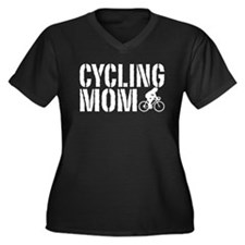 Cycling Mom Women's Plus Size V-Neck Dark T-Shirt