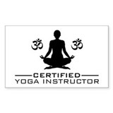Certified Yoga Instructor  Aufkleber
