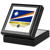 """Marshall Islands Flag"" Keepsake Box"