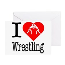 I Love Wrestling Greeting Cards (Pk of 20)