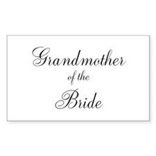 Grandmother of the Bride Decal