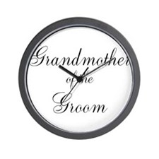 Grandmother of the Groom Wall Clock
