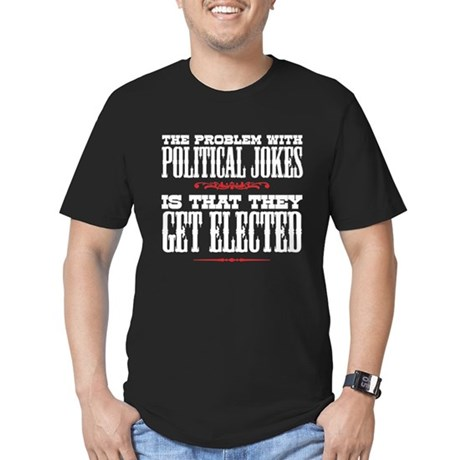 Political Jokes Get Elected Men's Fitted T-Shirt (