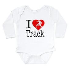 I Love Track Long Sleeve Infant Bodysuit