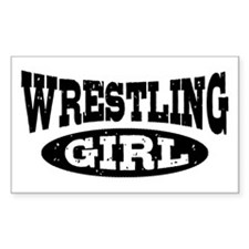 Wrestling Girl Decal