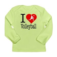 I Love Volleyball Long Sleeve Infant T-Shirt