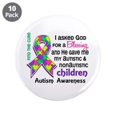 "Blessing 4 Autism 3.5"" Button (10 pack)"