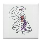 Bride Gown Tile Coaster