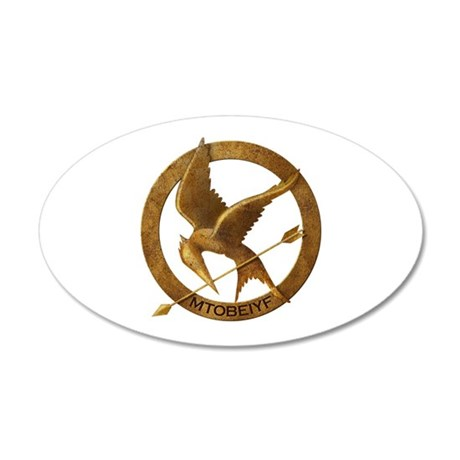 74th Hunger Games 22x14 Oval Wall Peel