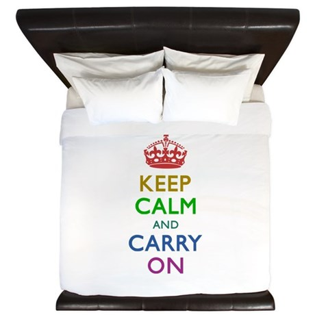 Keep Calm and Carry On King Duvet