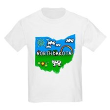 North Dakota, Ohio. Kid Themed T-Shirt
