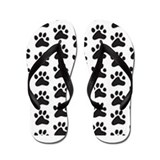 Paw Print Pattern Flip Flops